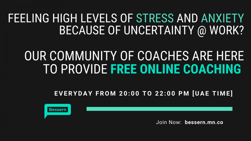 Free Online Coaching by Bessern: Anxiety and Stress at Work